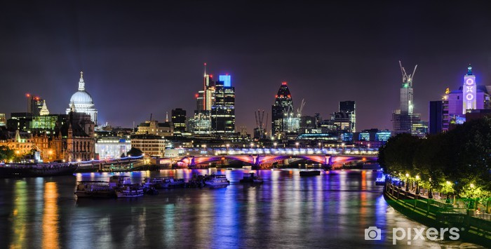 London skyline by night Vinyl Wall Mural - Themes