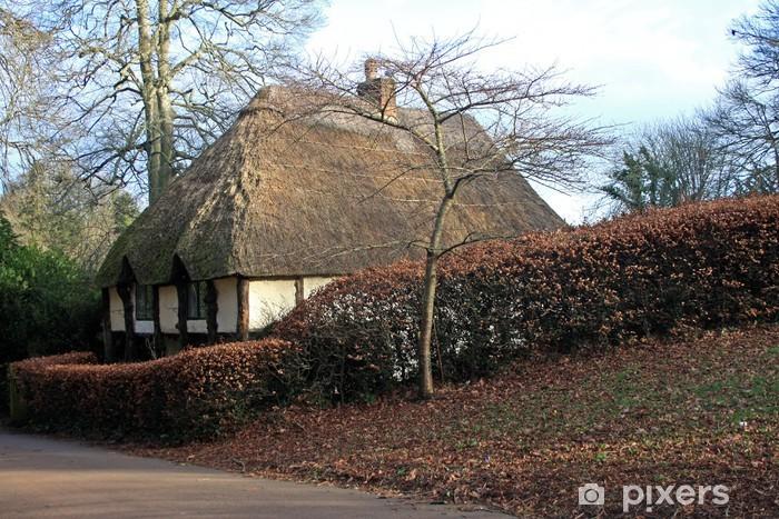 Papier peint vinyle Chaumière village Cockington - Europe