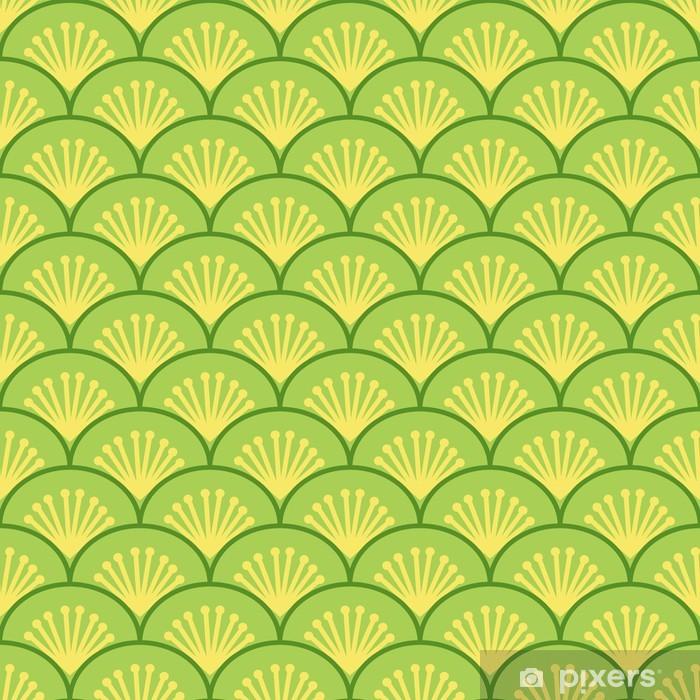 Vinyl Fotobehang Japanse golven traditionele naadloze patroon, vector - Achtergrond