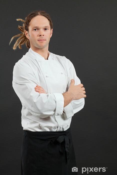 Nálepka Pixerstick Muž chef stojí se založenýma - Profese