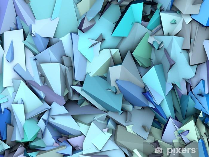 Alfombrilla de baño 3d abstracto patrón fragmentado fondo azul púrpura - Temas