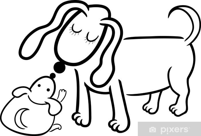 Boyama Yavru Köpek Anne Duvar Resmi Pixers Haydi Dünyanızı