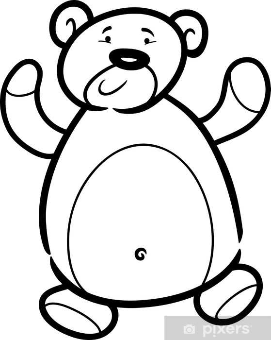 - Teddy Bear Cartoon For Coloring Book Wall Mural • Pixers® - We Live To  Change
