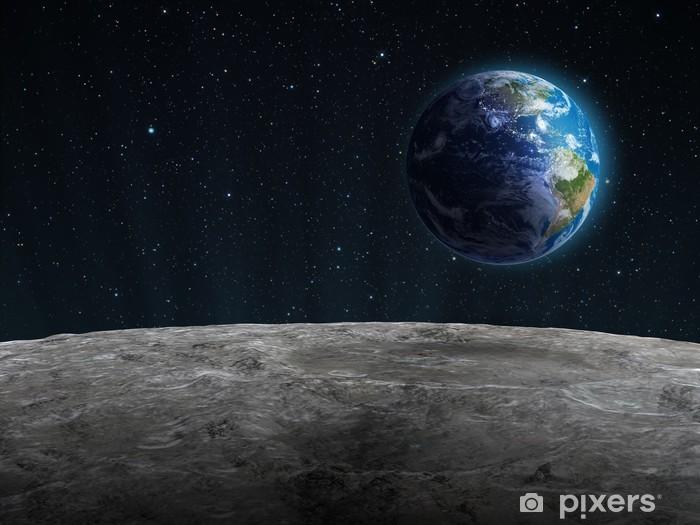 Fotomural Estándar El aumento de la Tierra vista desde la Luna - Destinos