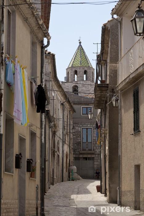 Papier peint vinyle Petrella Tifernina, Molise vieux village et de l'église de San Giorgio - Europe