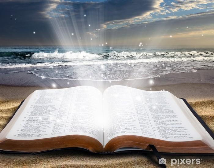 Nálepka Pixerstick Bible na pláži - Voda