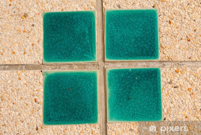 Papier peint vinyle Surface des carreaux de ciment. - Vie