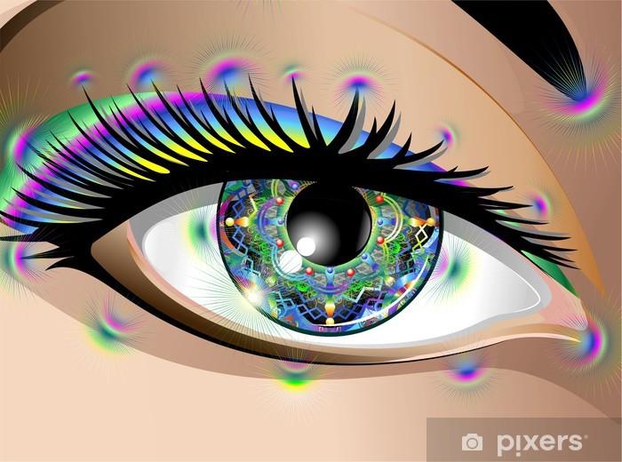 Fototapeta winylowa Hypnotic Psychedelic Mandala Eye-Occhio Mandala-Vector - Tematy
