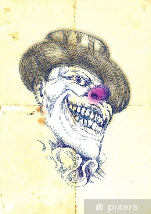 Nálepka Pixerstick Klaun, halloween maska - Zábava