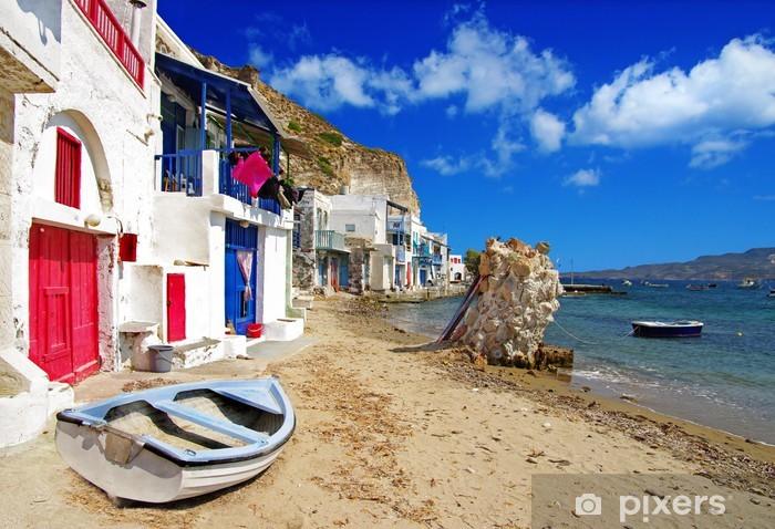 Fototapeta winylowa Tradycyjne grecja scenerii - Milos Island. mała wioska rybacka, - Europa