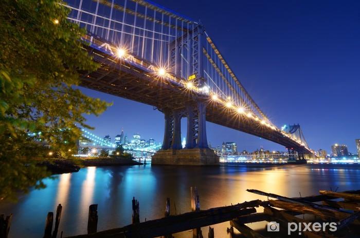 Sticker Pixerstick Manhattan Bridge à New York - Thèmes