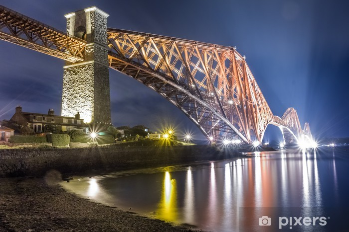 Night over the Forth Road Bridge Vinyl Wall Mural - Themes