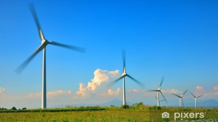Sticker Pixerstick 青 空 と 風 と 風車 - Ecologie