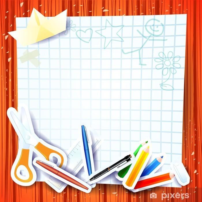 20d9efca9939f Fototapeta Szkoła tło z papieru • Pixers® • Żyjemy by zmieniać
