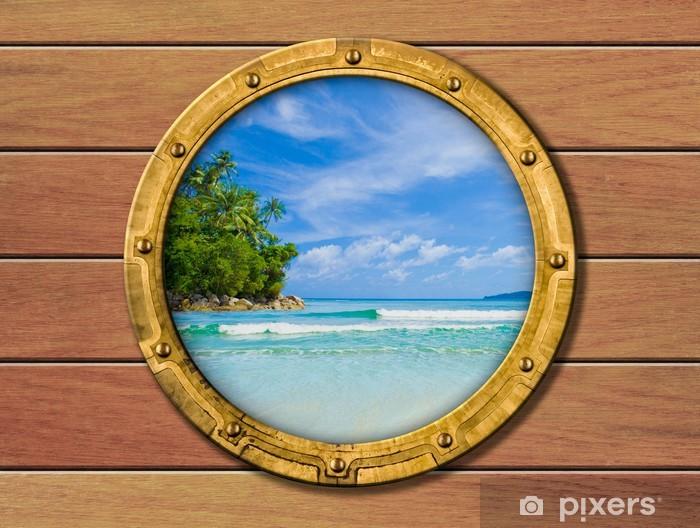 Fototapeta winylowa Wysyłamy iluminator z tropikalnej wyspy, za - Style