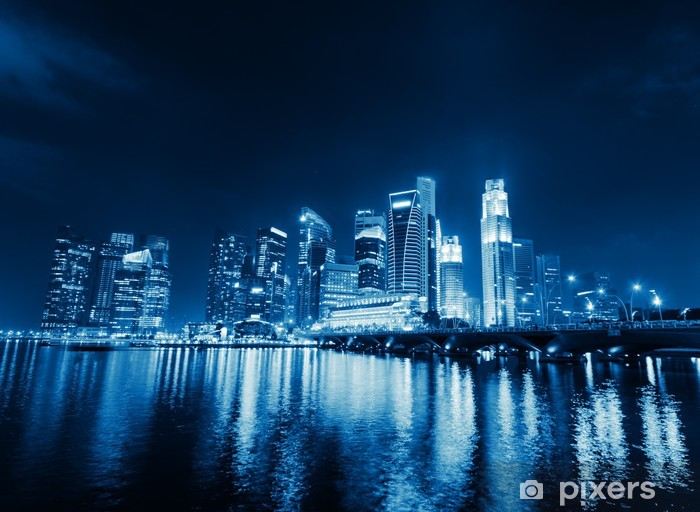 Sticker Pixerstick Singapore - Villes d'Asie