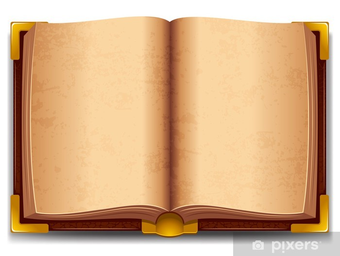 Adesivo Pixerstick Aperto vecchio libro - Educazione
