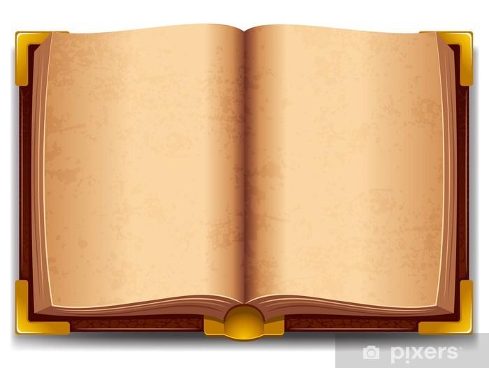 Naklejka Pixerstick Otworzył stare książki - Edukacja
