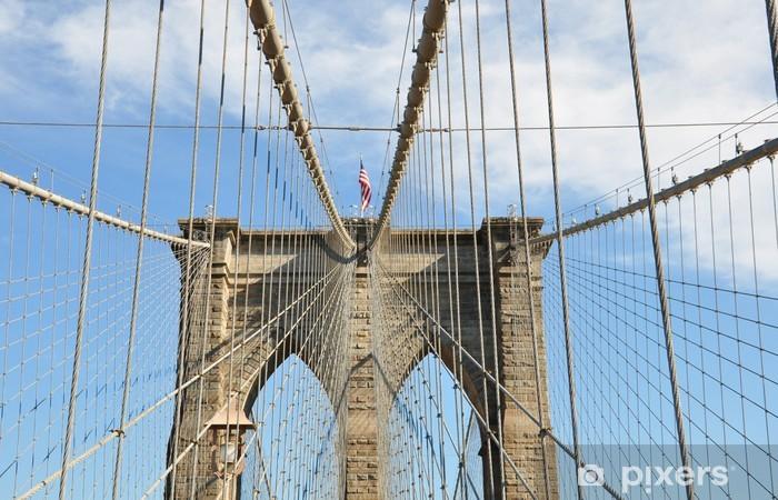 Nálepka Pixerstick Brooklynský most - Americká města