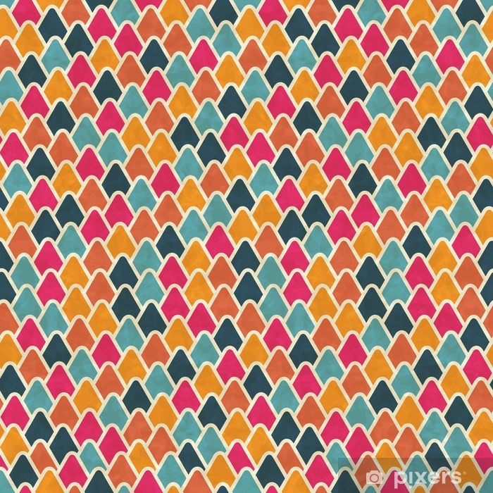 Seamless retro geometric pattern. EPS10 vector texture. Pixerstick Sticker - Themes