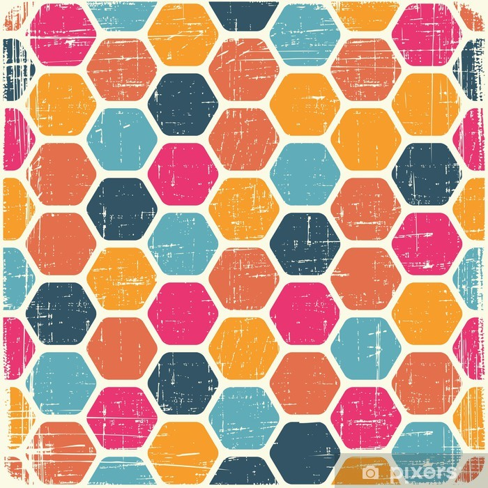 Abstract retro geometric scratched background. EPS8 texture. Vinyl Wall Mural - Backgrounds