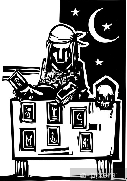 Gypsy Tarot Reading Simple Pixerstick Sticker - Life