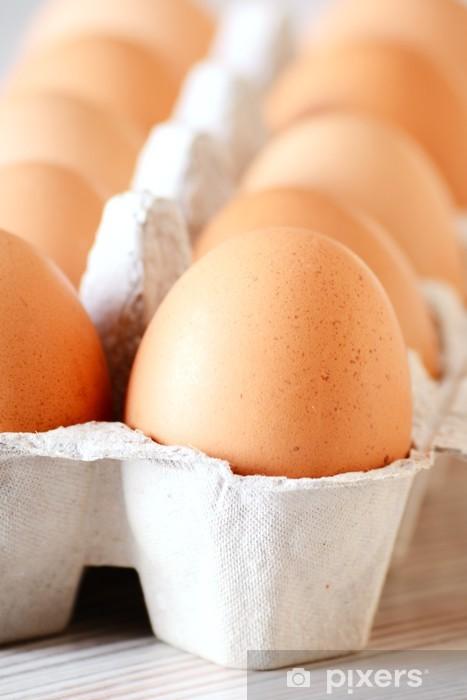 Nálepka Pixerstick Slepičí vejce na kuchyňském stole - Vajíčka