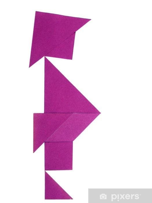 Naklejka Pixerstick Gejsza wykonywane z 7 kawałki Tangram - Sztuka i twórczość
