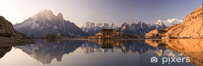 Vinil Duvar Resmi Monte Bianco Alpi riflesse nel Lago Bianco e - Panorama