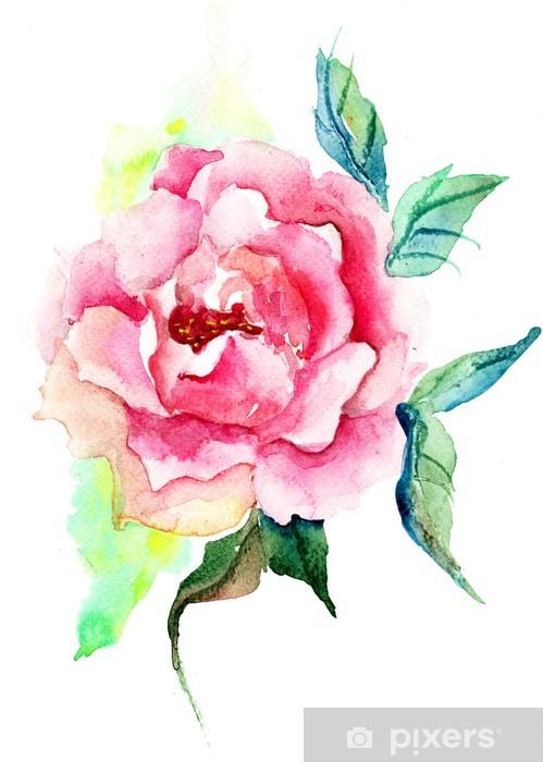 Fotomural Flores Rosas Hermosas Pintura Acuarela Pixers