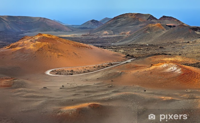 Carta da Parati in Vinile Montagne di fuoco, Parco Nazionale di Timanfaya a Lanzarote - Disastri naturali