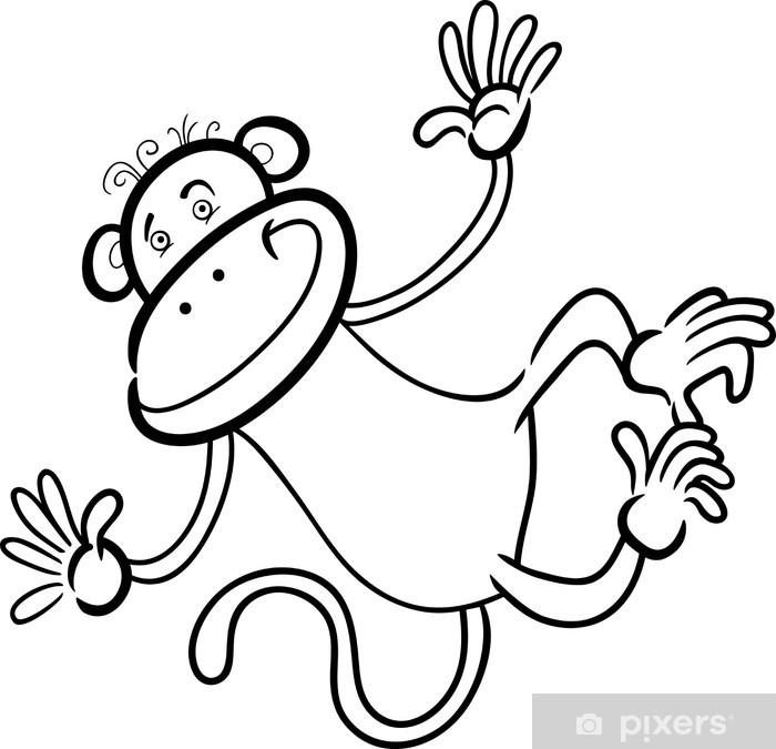 Plakát Legrační opice na omalovánky - Savci