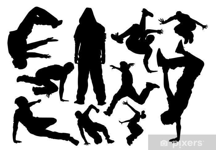 Vinyl Fotobehang Parkour vector - Individuele sport