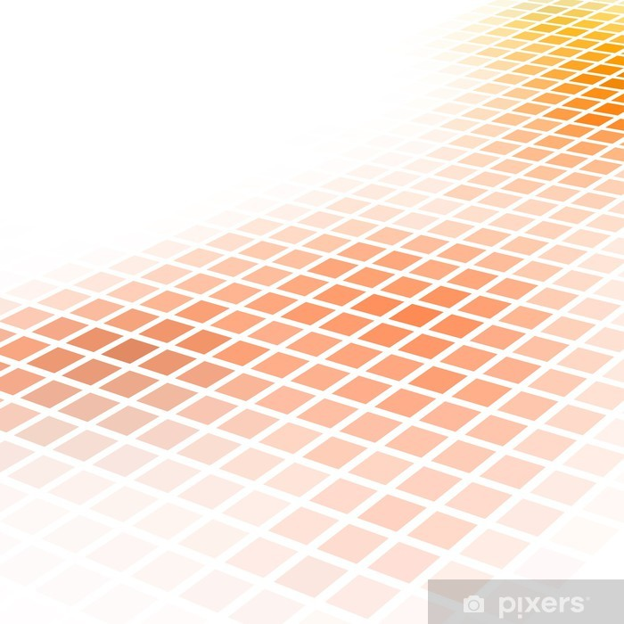 Wall Mural Vinyl Abstract Orange Square Mosaic Vector Background