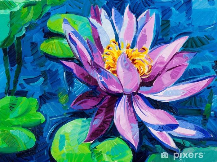 Water Lily Pixerstick Sticker - Art and Creation