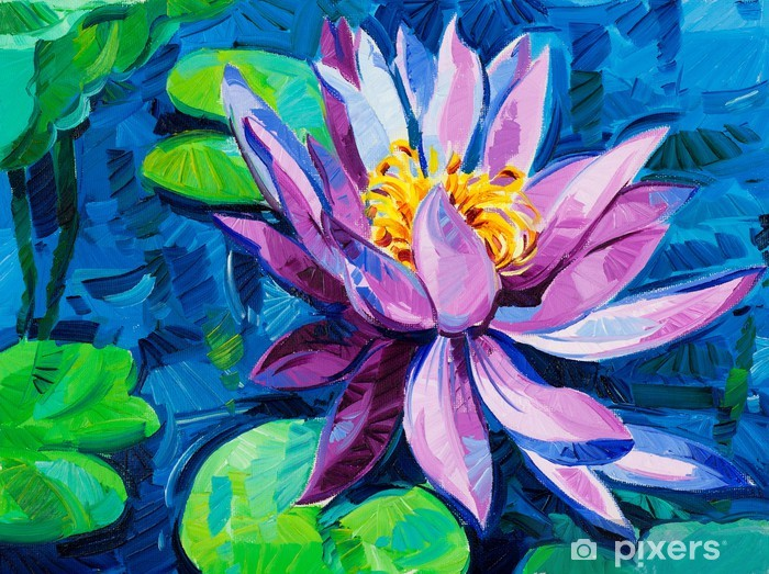 Water Lily Vinyl Wall Mural - Art and Creation