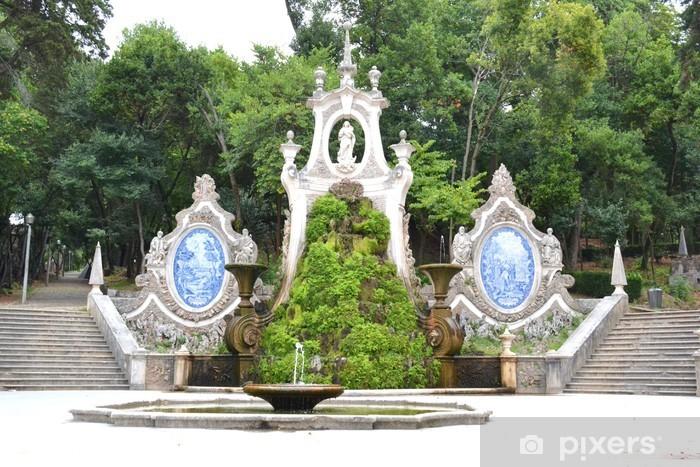 Pixerstick Aufkleber Meerjungfrau-Garten - Coimbra Portugal - Fabelwesen