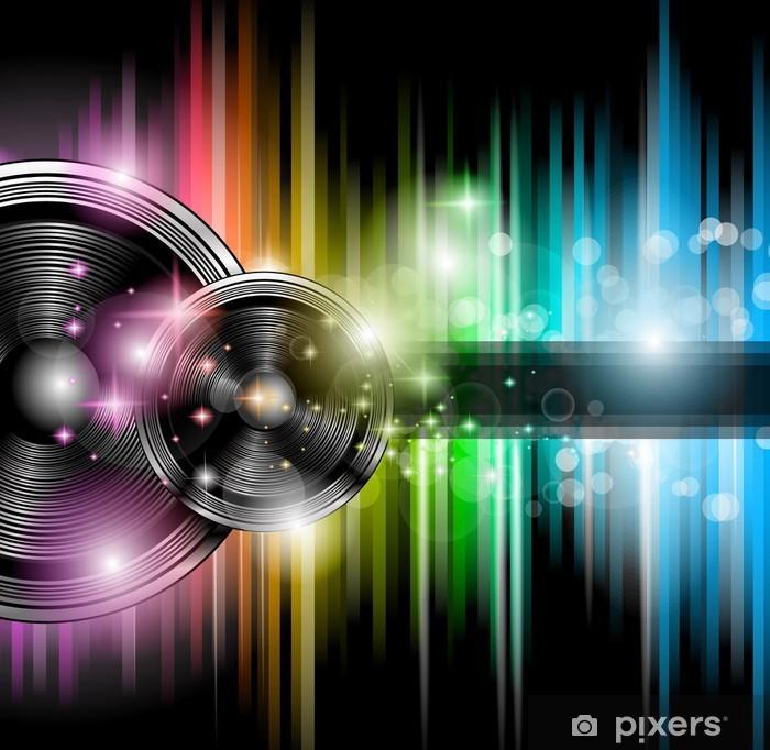Sticker Pixerstick Dépliant discothèque avec beaucoup de design coloré abstrait - Styles