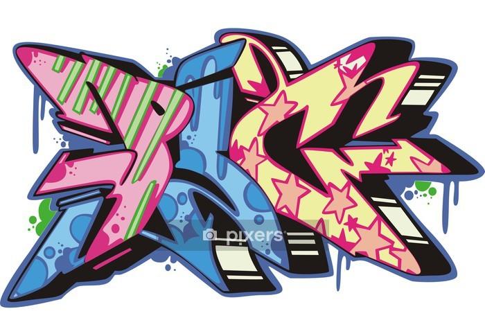 Wandtattoo Graffiti Schwein Pixers Wir Leben Um Zu Verandern