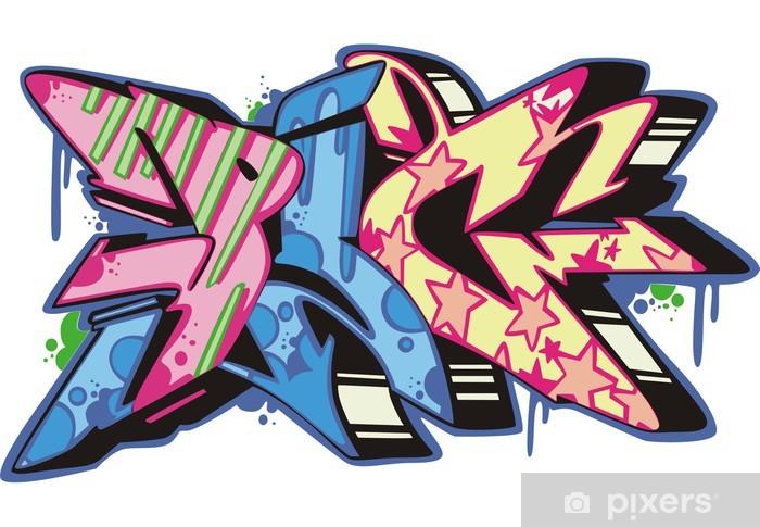 Naklejka Pixerstick Graffiti - świnia - Naklejki na ścianę