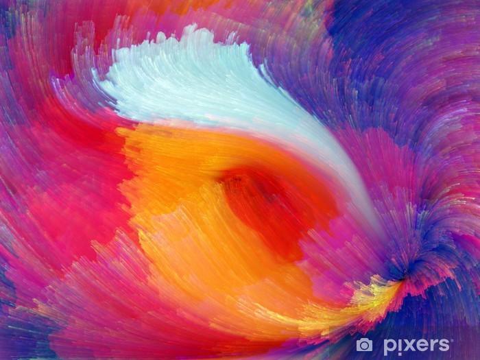 Papier peint vinyle Source de couleur - Art et création