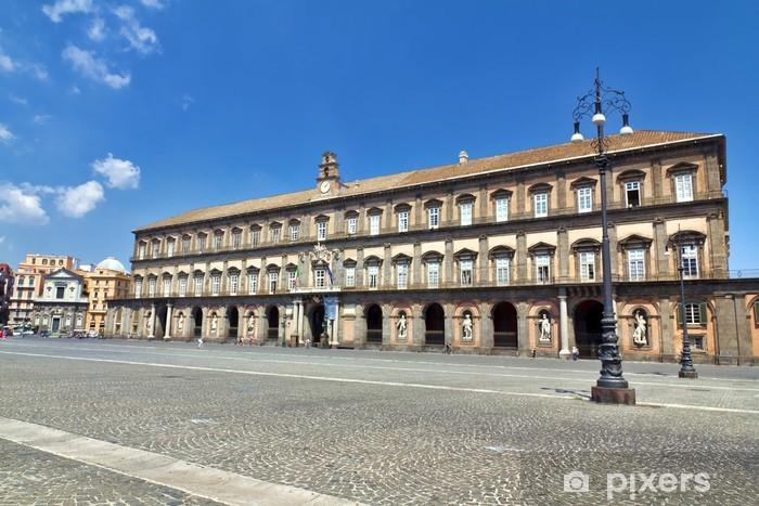 Papier peint vinyle Naples, Piazza del Plebiscito, le Palais Royal - Europe