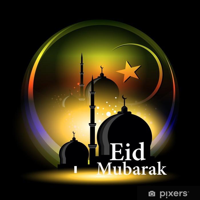 Plakat Streszczenie projektu karty uroczystości na Eid Mubarak miesiąc święty - Sztuka i twórczość