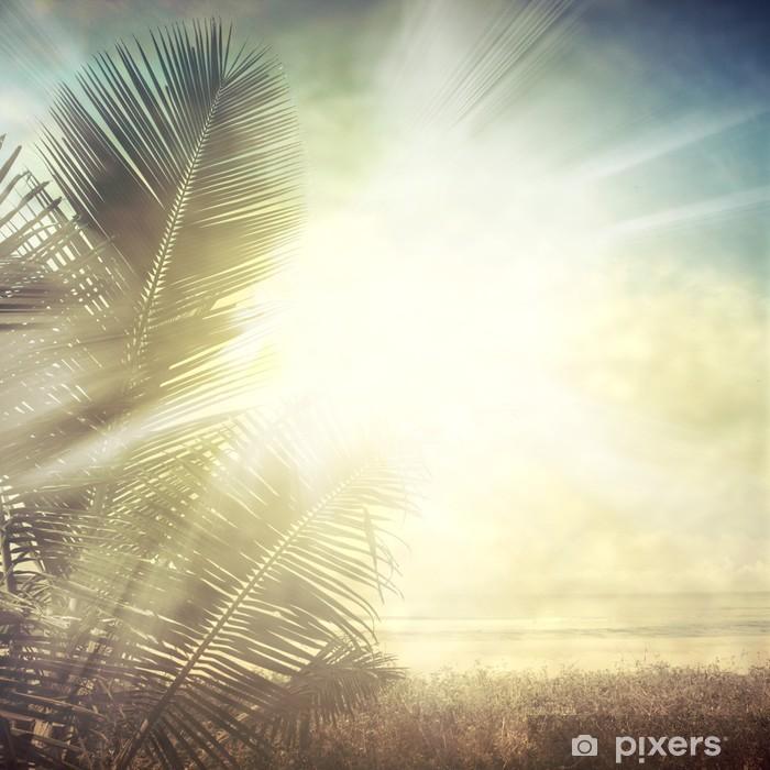 Papier peint vinyle Grunge palmier-9 - Styles