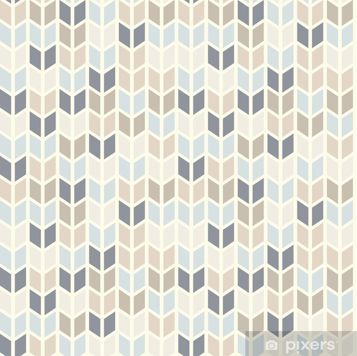 Seamless geometric pattern in pastel tints Vinyl Wall Mural - Themes