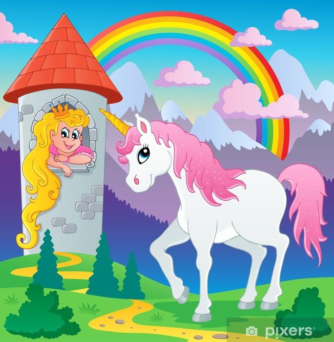 Eventyr unicorn tema billede 3 Bord og skrivbordfiner -