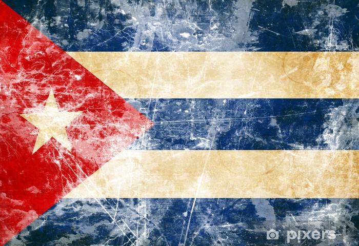 Papier peint vinyle Drapeau cubain -