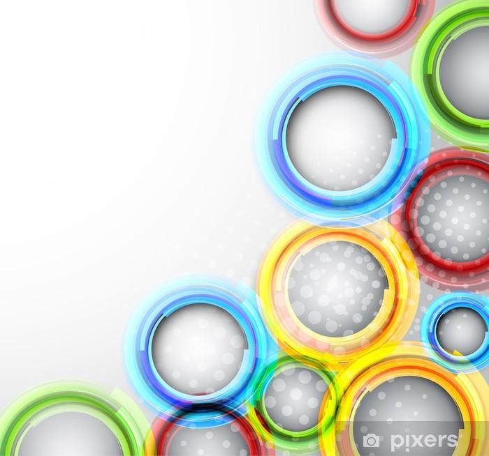 Poster Bakgrund med färgglada cirklar - Konst & skapande