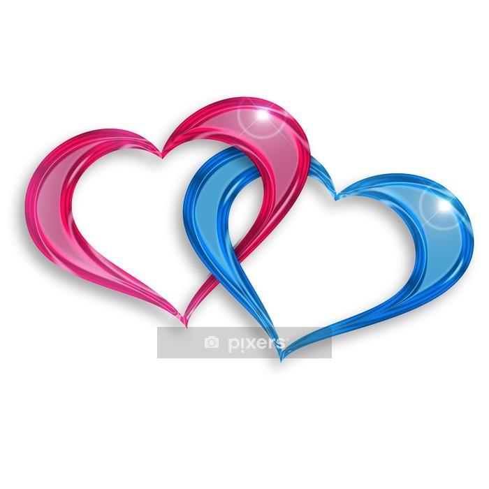 Adesivo da Parete Anelli di amore - Segni e Simboli
