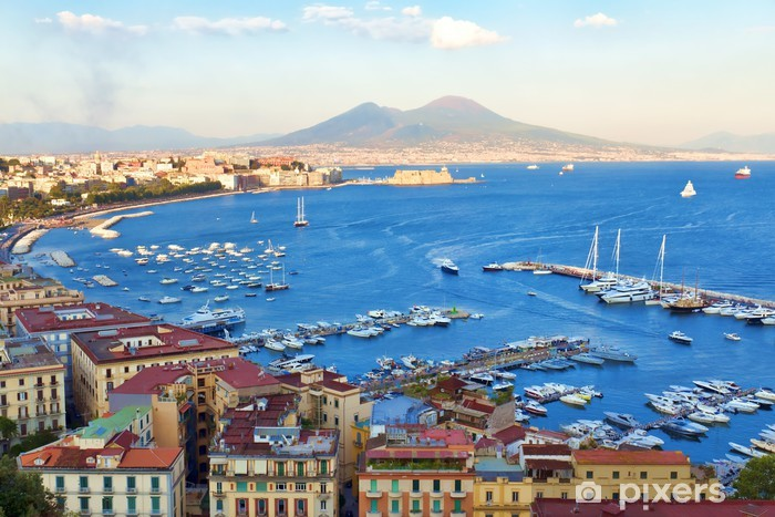 Adesivo Pixerstick Veduta del Golfo di Napoli - iStaging